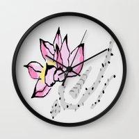 lotus Wall Clocks featuring Lotus by Vitta
