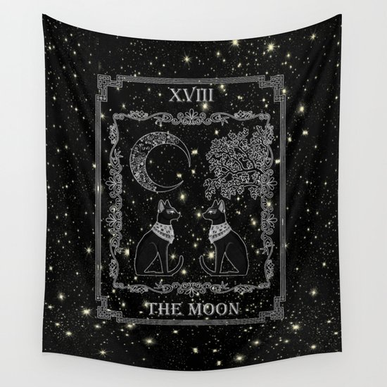 """Tarot """"The Moon"""" - silver- cat version by snuggly"""