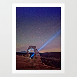 Starry Night Pointer Art Print