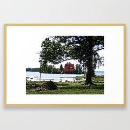 The castle on the island Framed Art Print