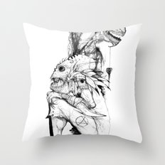 Empty Words Throw Pillow