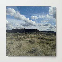 Open Blue Country Sky Metal Print