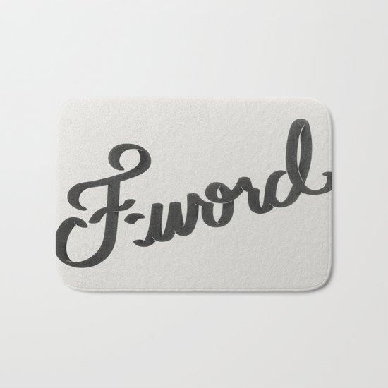 F-word Bath Mat