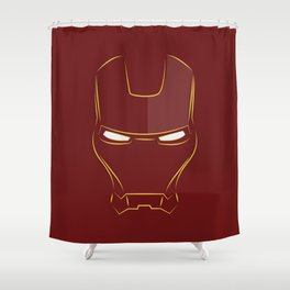 iron man face Shower Curtain