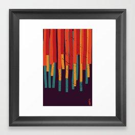 Squared Stripes Framed Art Print