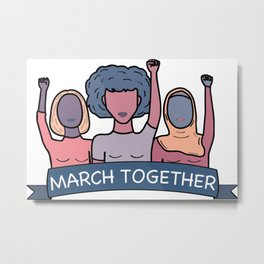 March Together Metal Print