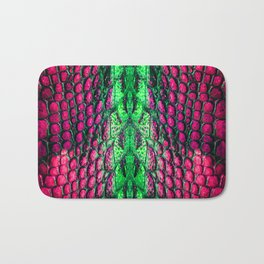 Crocodile pattern texture Bath Mat