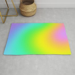Bright Rainbow Gradient Design! Rug
