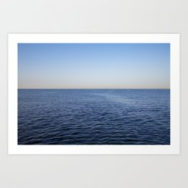 Ocean blue horizon Art Print