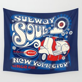 Soul Scoot Subway Soul by Dawn Carrington Wall Tapestry