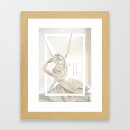 Psyche Revived by Cupid's Kiss Framed Art Print
