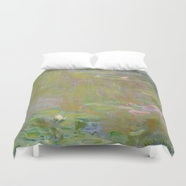 Water Lily Pond by Claude Monet Duvet Cover
