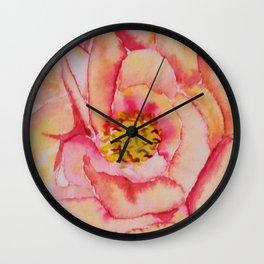 Watercolour peony. Wall Clock
