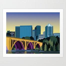 Key Bridge Washington, D.C. Print Art Print