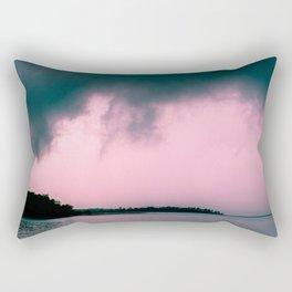 Gloomy Lake Rectangular Pillow