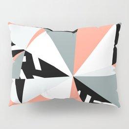 Modern Geometric 45 Pink Pillow Sham