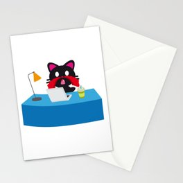 One Tooth Black Cat Nosebleed Anime Watch Dirty Things Stationery Cards