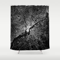 philadelphia Shower Curtains featuring philadelphia map by Line Line Lines