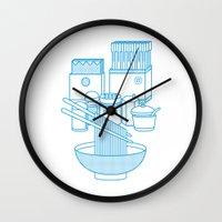 ramen Wall Clocks featuring Ramen Set by Design Made in Japan