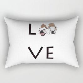 Love. English Bulldogs Rectangular Pillow