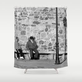 Abuelos  grandparents Shower Curtain