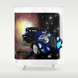 Hot Rods In Space Shower Curtain