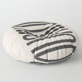 Abstract Woodblock Art Floor Pillow