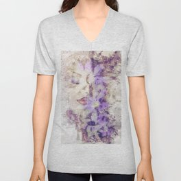 Purple Climbers Unisex V-Neck