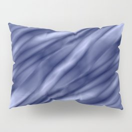 A interweaving cluster of blue bodies on a yellow background. Pillow Sham
