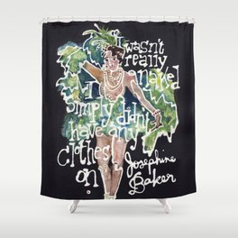Josephine Baker Shower Curtain
