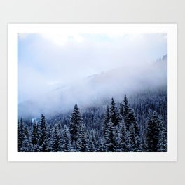 Colorado Snow Art Print