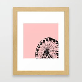 Ferris Wheel (Pink) Framed Art Print