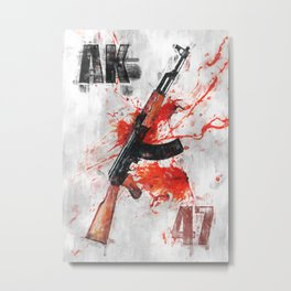 AK-47 gun Metal Print