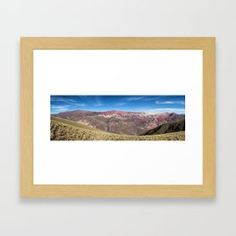 Hornocal Hill, Quebrada of Humahuaca. Jujuy, Argentina Framed Art Print