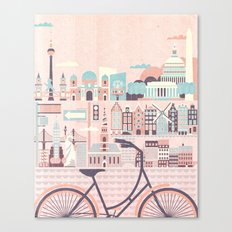 Best Cities to Tour by Bicycle Canvas Print