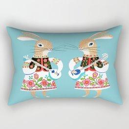 Bunny Musicians Rectangular Pillow