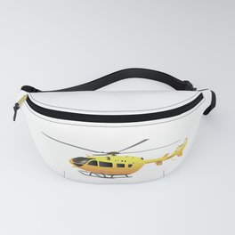Yellow Modern Helicopter Fanny Pack