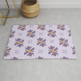 Beautiful Cut Out Flowers IV Rug