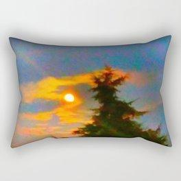 Sunrise and Fir Tree Rectangular Pillow