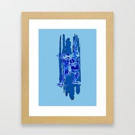 TMNT Rock: Leo Framed Art Print