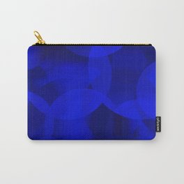 Abstract soap of ultramarine molecules and transparent bubbles on a deep blue background. Carry-All Pouch