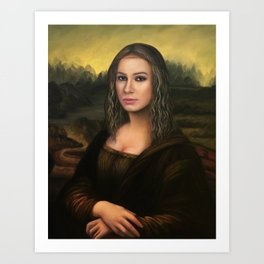 Mona Esperanza - a nobilified creation Art Print