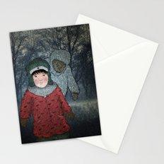 Посмотри! Йети - Beware of the Yeti!  Stationery Cards