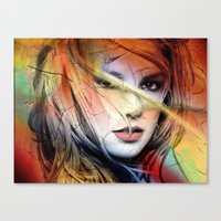 britney spears Canvas Prints featuring  britney spears  by mark ashkenazi