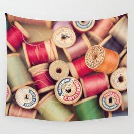 vintage spools Wall Tapestry