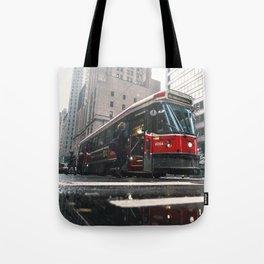 Classic Toronto Streetcar Tote Bag