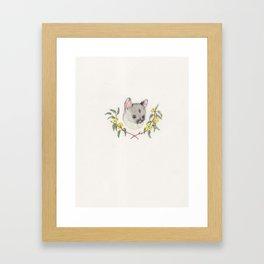 Possum and Eucalypt Framed Art Print