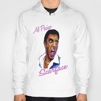 scarface Hoodies featuring Scarface by AdrockHoward