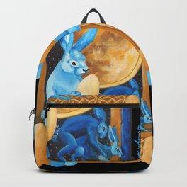 Celtic Lunar Rabbits and Hares - Easter, Ostara Backpack