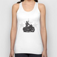 military Tank Tops featuring Military Harley by Ernie Young